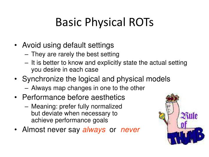Basic Physical ROTs