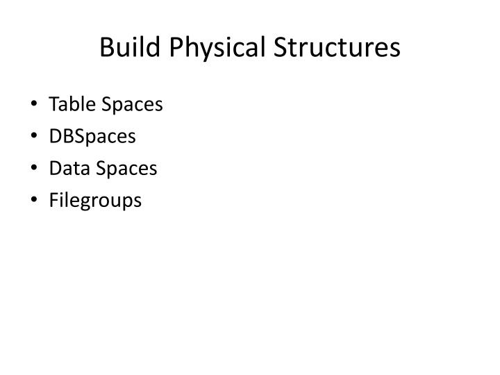 Build Physical Structures