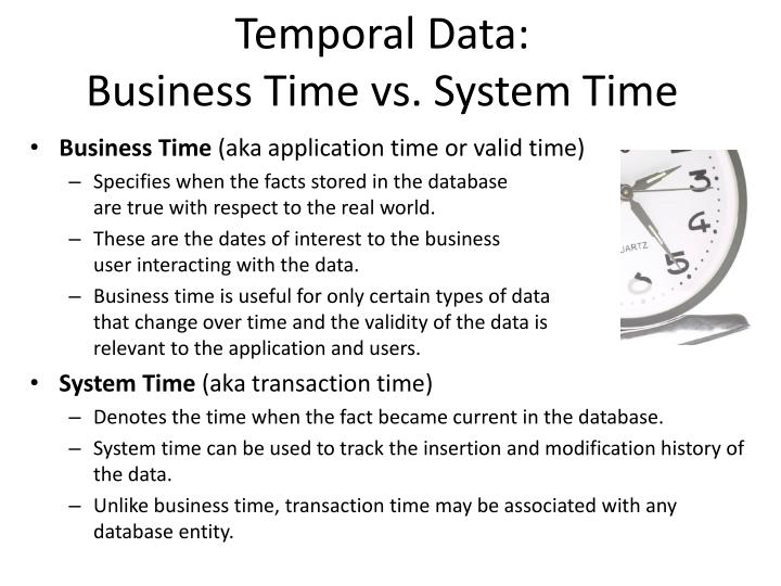 Temporal Data:
