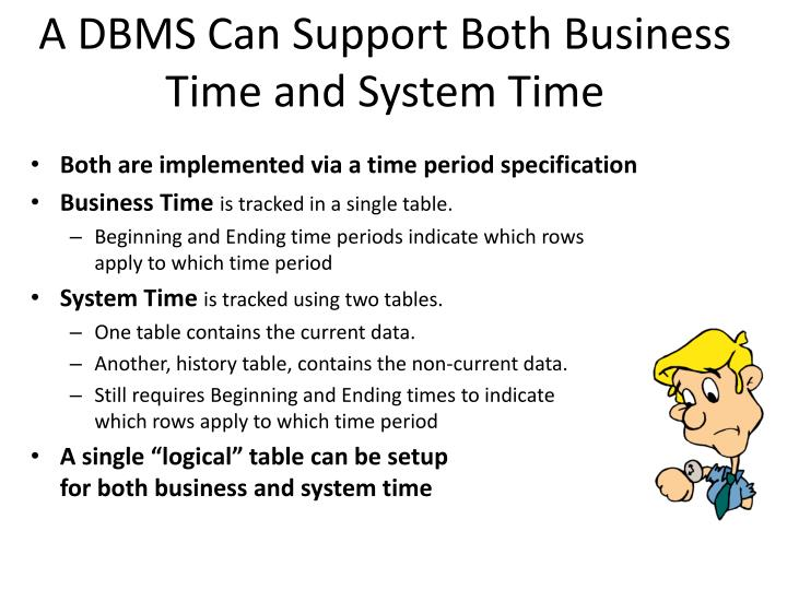 A DBMS Can Support Both Business Time and System Time