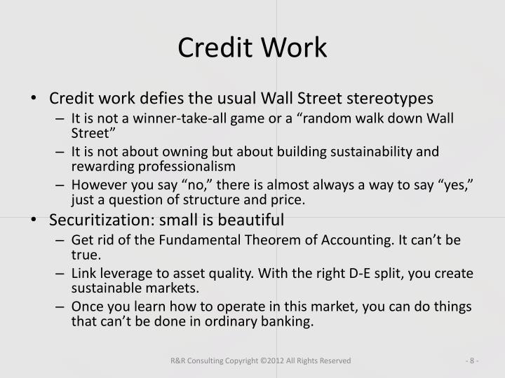 Credit Work