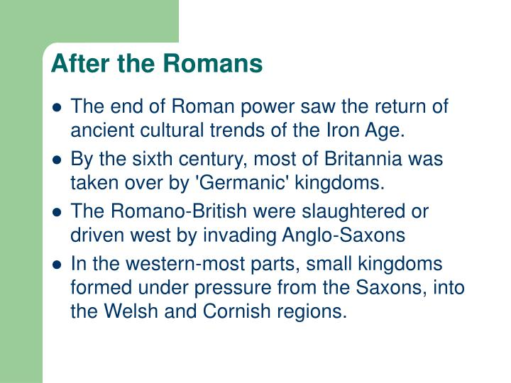 After the Romans