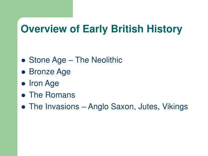 Overview of Early British History