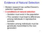 evidence of natural selection2