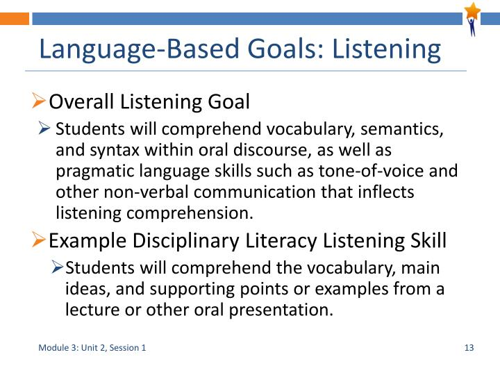 Language-Based Goals: Listening