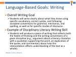 language based goals writing