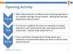 opening activity
