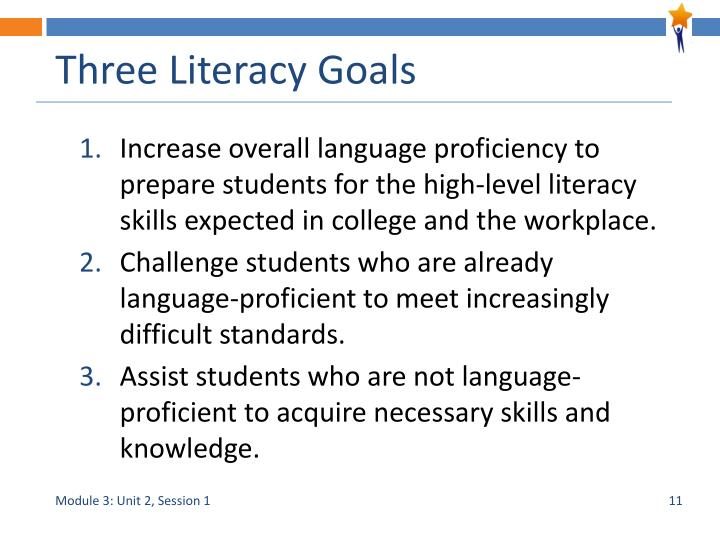 Three Literacy Goals