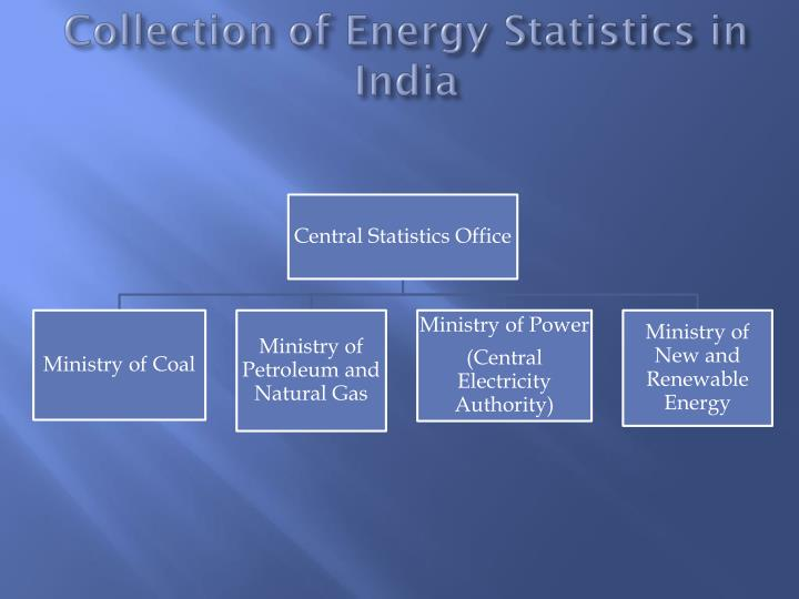 Collection of Energy Statistics in India