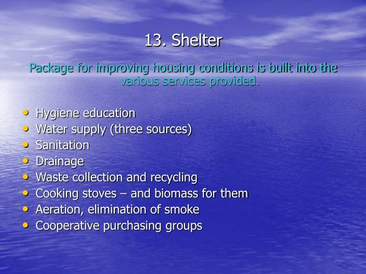 13. Shelter