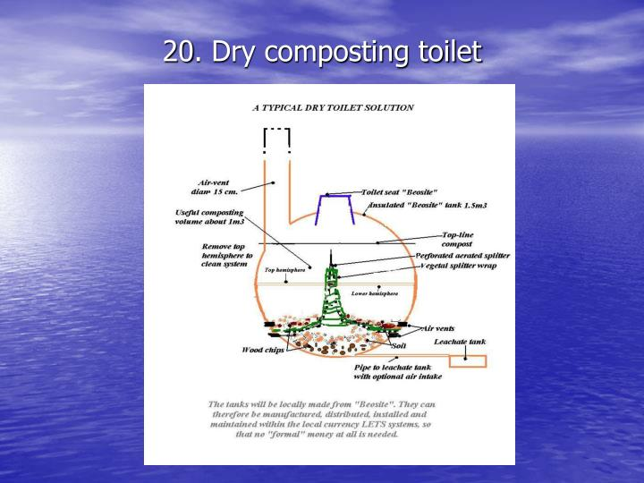 20. Dry composting toilet