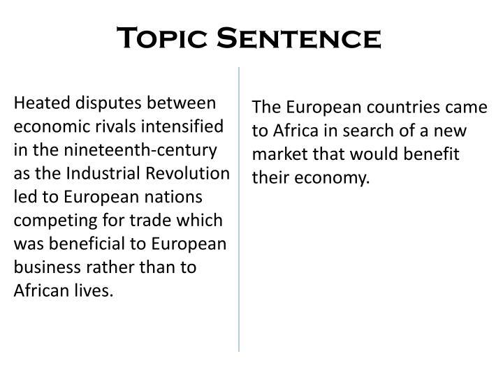 Topic Sentence