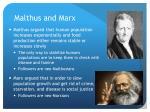 malthus and marx