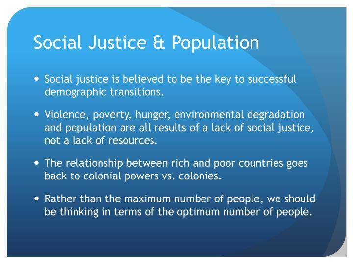 Social Justice & Population