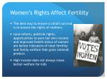 women s rights affect fertility