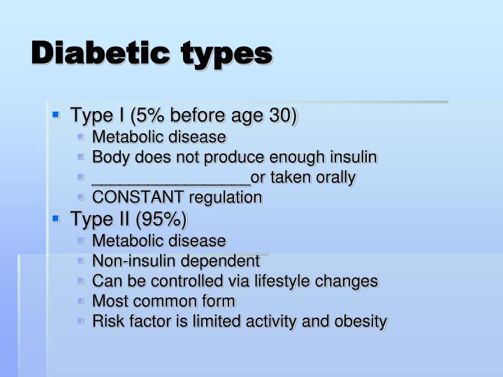 Diabetic types