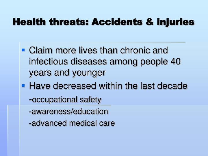 Health threats: Accidents & injuries