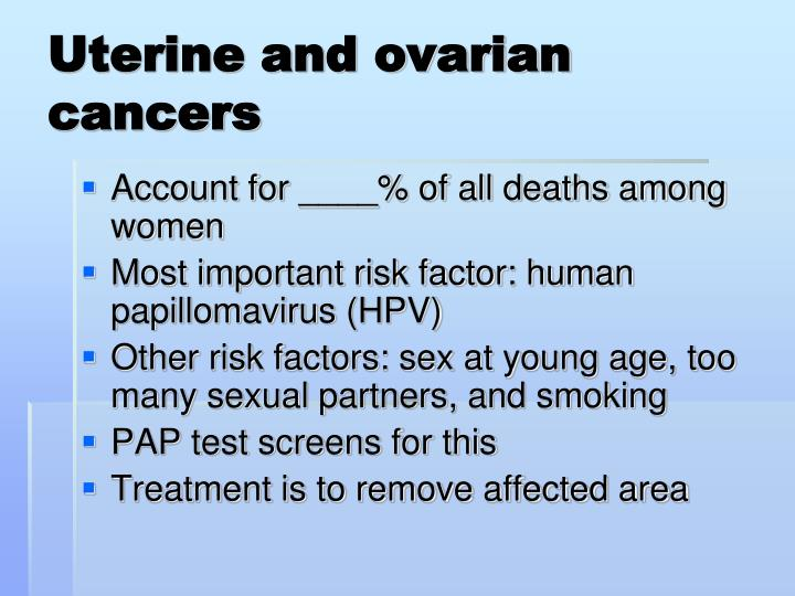 Uterine and ovarian cancers