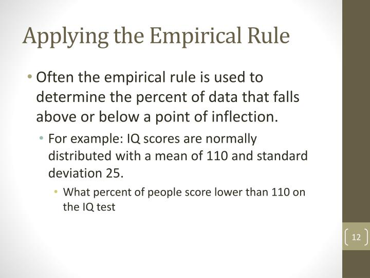 Applying the Empirical Rule