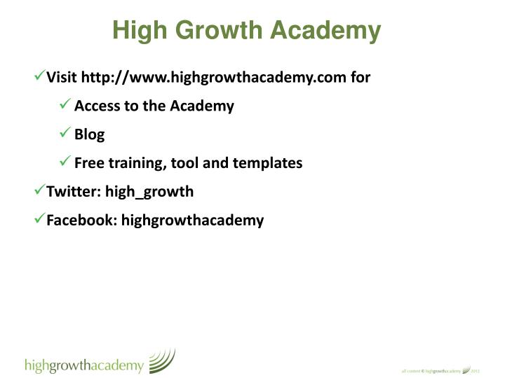 High Growth Academy