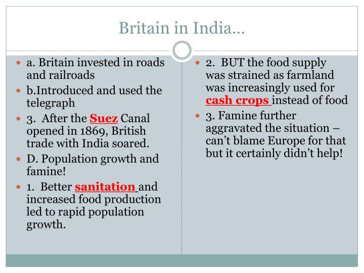 Britain in India…