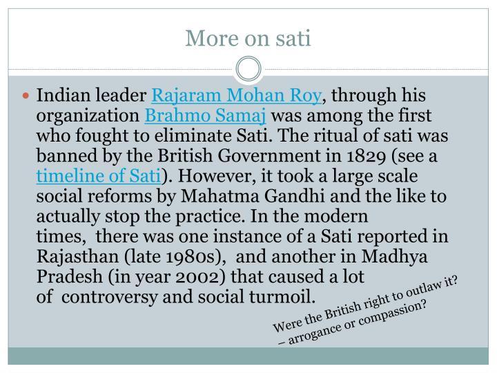 More on sati