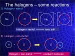 the halogens some reactions