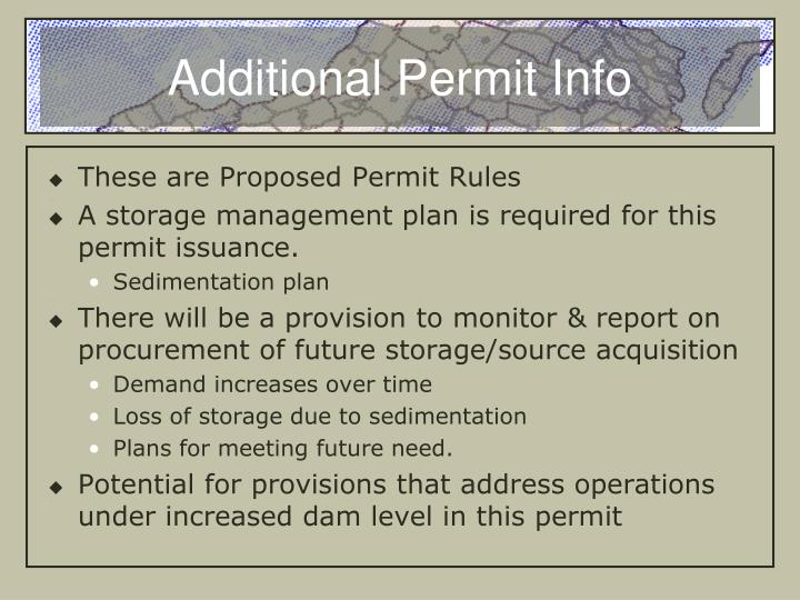 Additional Permit Info