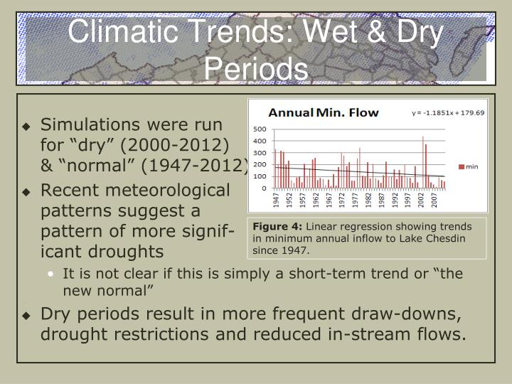 Climatic Trends: Wet & Dry Periods