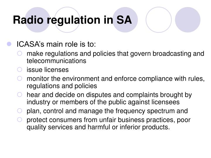 Radio regulation in SA