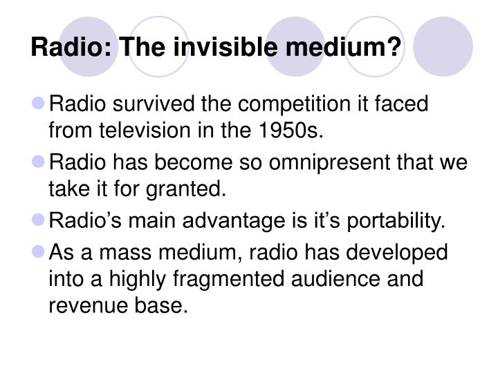 Radio: The invisible medium?
