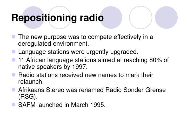 Repositioning radio