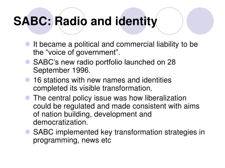 SABC: Radio and identity