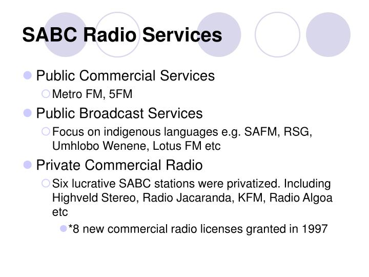 SABC Radio Services