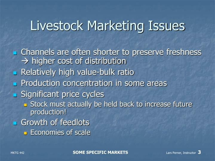 Livestock marketing issues