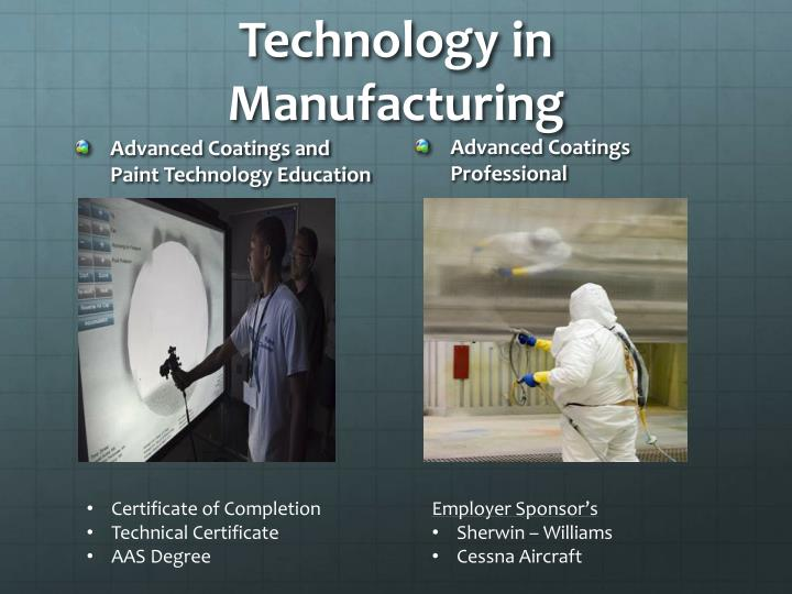 Technology in manufacturing