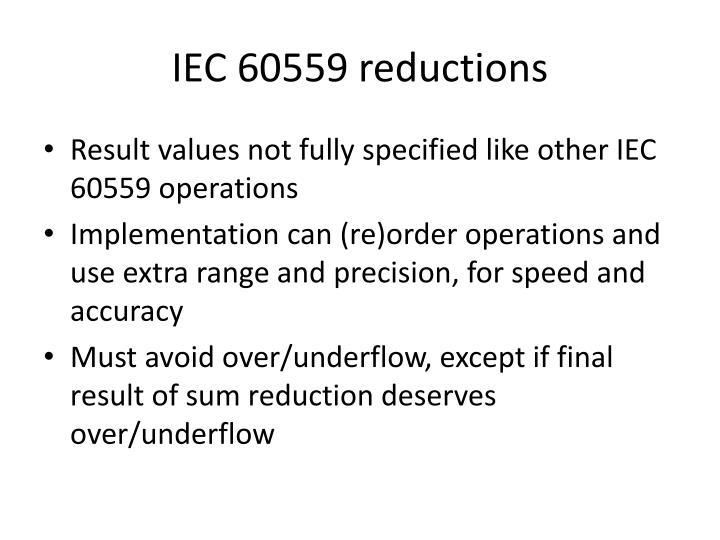 IEC 60559 reductions