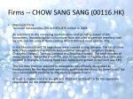 firms chow sang sang 00116 hk