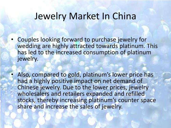 Jewelry Market In China
