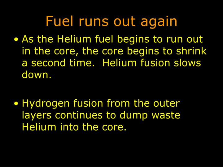 Fuel runs out again