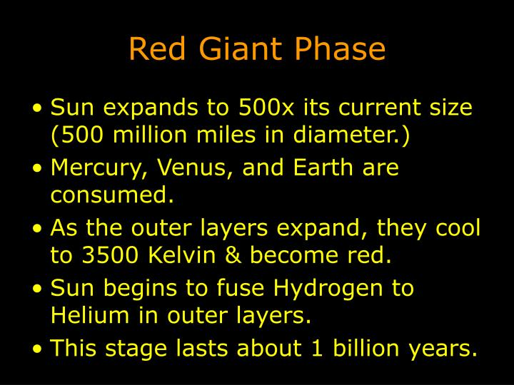 Red Giant Phase