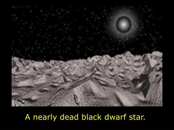 A nearly dead black dwarf star.