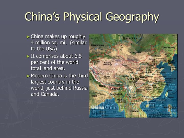 China s physical geography