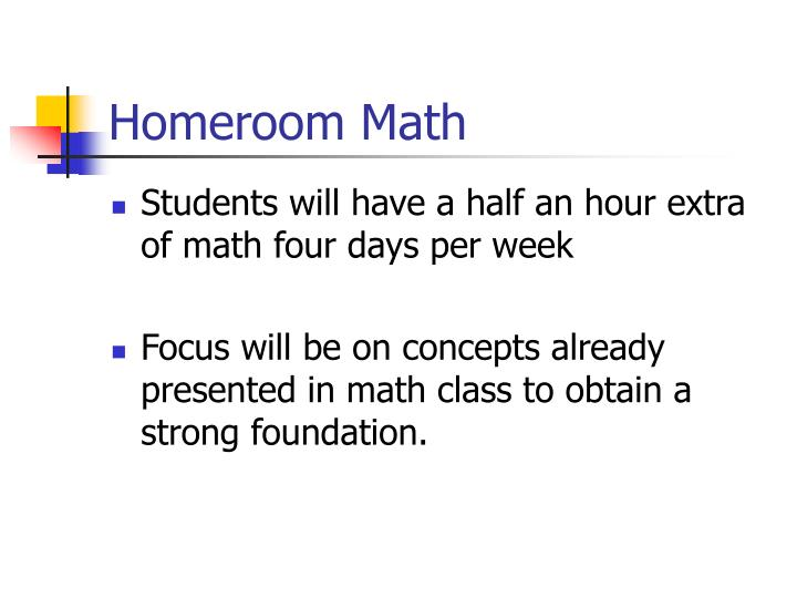 Homeroom Math