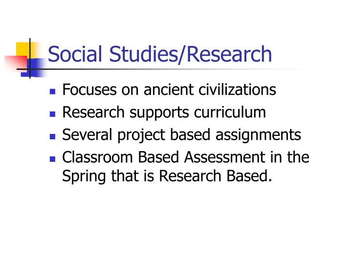 Social Studies/Research