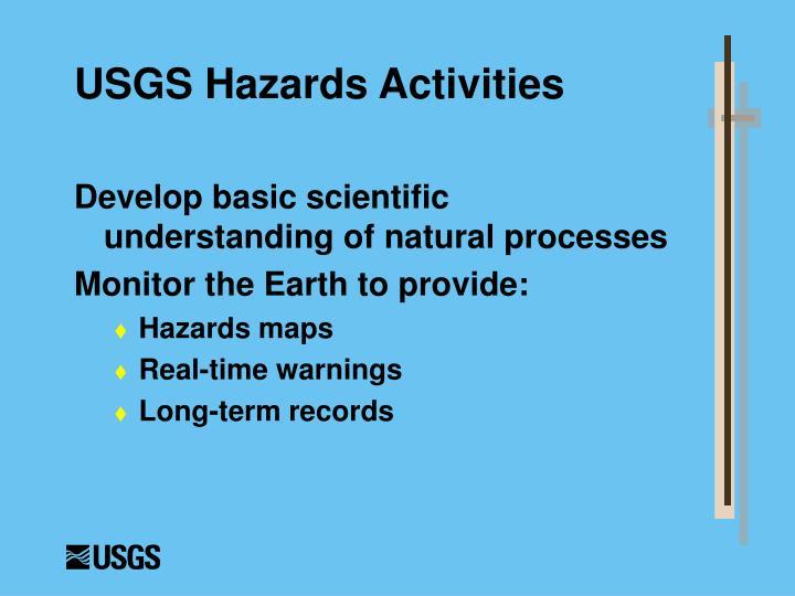 USGS Hazards Activities