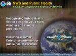 nws and public health a call for cooperative action for america