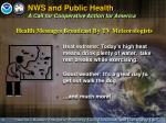 nws and public health a call for cooperative action for america2