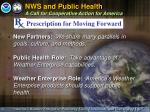 nws and public health a call for cooperative action for america4