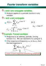 fourier transform variables